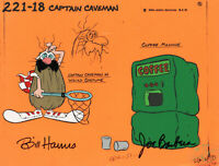 Hanna Barbera-Captain Caveman Original Model Cel Signed By Hanna + Barbera