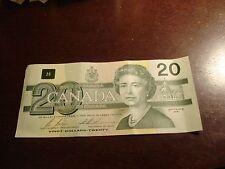 1991 Canadian $20 bill - twenty dollar note - ECK4778163