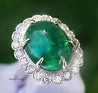 Emerald Ring Gold Diamond Natural Zambian 12.82CTW GIA Certified RETAIL $13300
