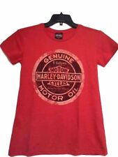 Harley-Davidson Women's Soft Heather Red Motor Oil Shirt Small