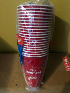 Special Edition Hefty Party Cups 18 oz Limited Red Holiday Fun Saying