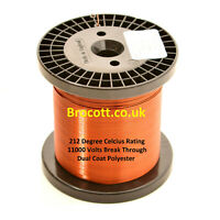 22AWG ENAMELLED COPPER WINDING WIRE, MAGNET WIRE, COIL WIRE 1KG Spool 22 GAUGE