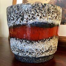Fat Lava Glaze Planter West Germany Mid Century Modern MCM Vase 1960s Scheurich