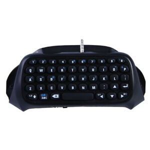 Mini Bluetooth Wireless Keyboard Chatpad Keypad For PS4 PlayStation 4 Controller