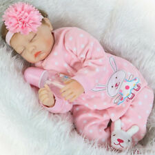"""22"""" 55cm Silicone Reborn Poupée Bébé Nouveau née Fille Réaliste Baby Doll Cadeau"""
