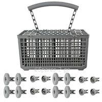 8 x Lower + 8 x Upper Wheels & Cutlery Basket for ELECTROLUX Dishwasher Wheel