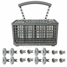 8 x Lower + 8 x Upper Wheels & Cutlery Basket for AEG Dishwasher Spare Wheel