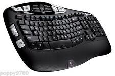 New Logitech Wireless Keyboard K350 w/ USB Unifying Receiver - Black 920-001996