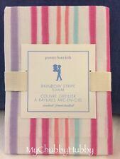 Nwt Pottery Barn Kids ~Rainbow Stripe~ Std Pillow Sham (1) ~Pink & Coral~ Vhtf!