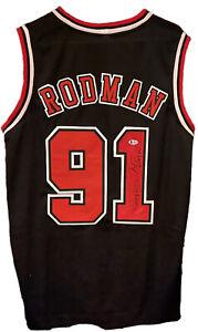Dennis Rodman Signed Chicago Bulls Jersey also inscribed The Worm w Beckett COA