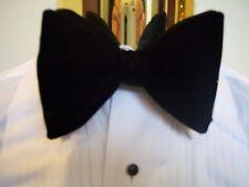 New Black Velvet bow tie - mens clip on style