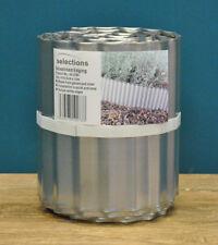 More details for garden lawn edging galvanised metal steel roll (16.5cm x 5m)