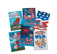 Pack of 12 - Mini Patriotic Activity Books - USA July 4th Party Supplies