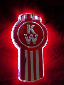"""Stealth """"RED"""" Kenworth Logo backing- Emblem light"""