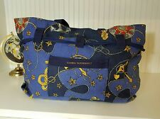 RARE Gloria Vanderbilt Overnight Bag Travel Tote Carry-on Beach Duffle Hobo VTG