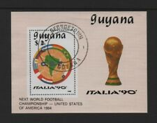 "GUYANA 1988 FOOTBALL WORLD CUP ""ITALIA '90"" MIN SHEET *FINE USED/CTO*"