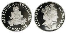 Australia 10 Dollars 1986 150° Anniversary South Australia Argento Silver #239