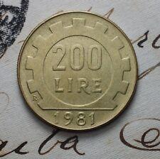 1981   Repubblica Italiana   200   lire
