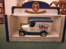 Oxford Diecast Morris Bull Nose Van with Leyland Auto Electrical Decals