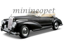 MAISTO 31806 1955 55 MERCEDES BENZ 300S CONVERTIBLE 1/18 DIECAST MODEL CAR BLACK