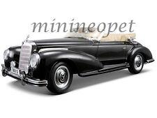 MAISTO 31806 1955 55 MERCEDES BENZ 300S CONVERTIBLE 1/18 DIECAST MODEL CAR BLACK
