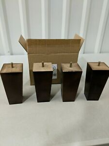 """AORYVIC Furniture Legs Pack of 4 - 6"""" Height Brown Replacement Legs Sofa Chair"""