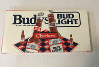 Bud® vs Bud Light® Checkers Vintage Board Game Budweiser King Of Beers MADE USA