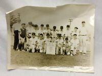 Vintage Avon Lake Ohio 1964 Little League Baseball Photograph Major Dodgers