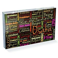 "Cities Geography World Small Photo Block 6 x 4"" - Desk Art Office Gift #15655"