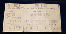The 1992 CUB AFL Finals - Match 3 - Waverley Park - Ticket X 1