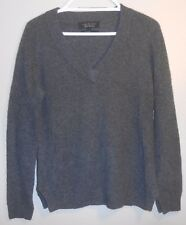 Rag & Bone Store Exclusive Gray 100% Cashmere V Neck Long Sleeve Sweater S