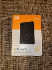 WD My Passport 4TB External USB 3.0 Portable Hard Drive (WDBPKJ0040BBK) - NEW