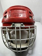 Vintage Cooper Sk 600 Ice Hockey Mask HM-50 Red Hasek Goalie Helmet Size S