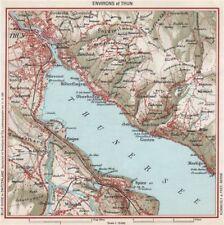 THUN nei dintorni. Vintage Mappa Plan. Thunersee. Svizzera 1963 OLD VINTAGE