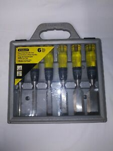 Stanley 6 Piece Wood Chisel Set with Case #16-901