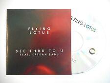 FLYING LOTUS : SEE THRU TO U feat. ERYKAH BADU ♦ CD SINGLE PORT GRATUIT ♦