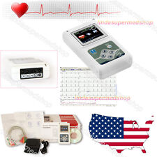 Newest 12-Channel 24H ECG EKG Holter Analyze System Recorder,Software CONTEC US