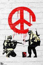 Banksy Cease and Desist Soldiers Stencil Street Graffiti Spray Paint Artist Art