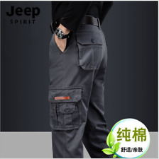 New Men's pants jogging thick cotton outdoors Casual pants pocket cargo pants