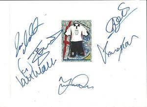 ENGLAND - 6 Original Signatures on A4 Sheet [Inc.Seaman,Campbell]
