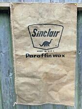 vintage Sinclair Oil Company burlap bag