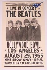 "Bob Eubanks THE BEATLES Signed Autograph ""Live Hollywood Bowl 1965"" 11x17 Poster"