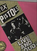 SEX PISTOLS Live & Loud LP 70s PUNK ROCK