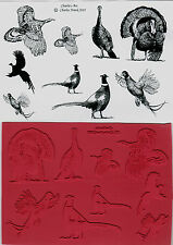 unmounted rubber stamps Charlies Turkeys and Pheasants  collection 9 images