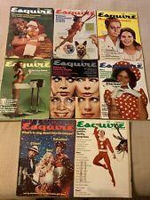 1972-1974 Vintage Esquire Magazine Lot of 8