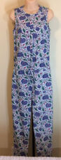 Jack Willis Fabulously British Floral Fabric Sleeveless Jumpsuit Size 4 Size 6