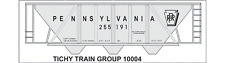 Tichy Train Group #10004 HO Scale PRR H-30 Hopper Gray Car RR Gothic Decal