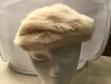 Ladies Vintage Hat Real Fur Bettine The May Co Cream Colored Lined Used