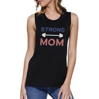 Strong Mom Muscle Tee Work Out Sleeveless Tank Top Gift For Mom