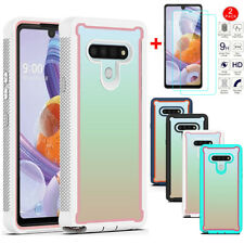 For LG Stylo 6 Shockproof Case Hybrid TPU Bumper Phone Case Cover+Tempered Glass